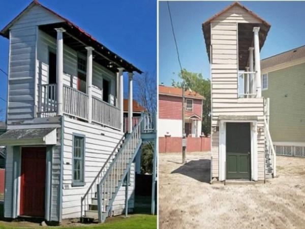 Thin house in Charleston, USA