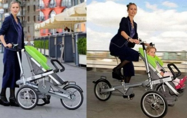 Baby Buggie that transforms into a bicycle