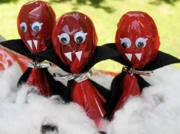 Vampire themed lollipops