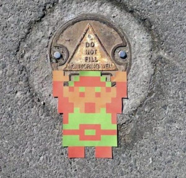 Zelda inspired street art by Aiden Glynn