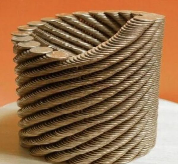 Stacked Coins Made in Art