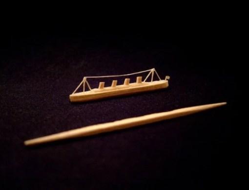 Titanic Toothpick Sculpture by Steven Backman