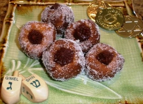 Red Bean and Ginger Sufganiyot