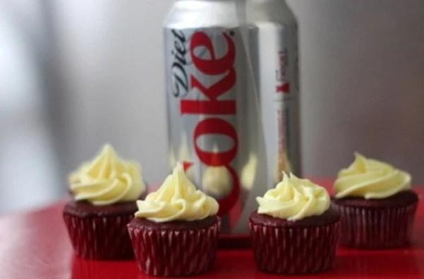 Diet-Coke Soft Drink Cupcakes