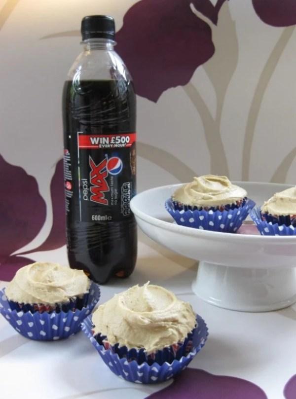 Pepsi-Max Soft Drink Cupcakes