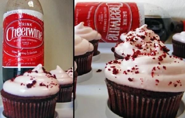 Drink Cheerwine Soft Drink Cupcakes
