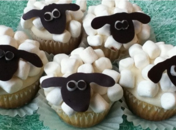 Sheep Inspired Cupcakes