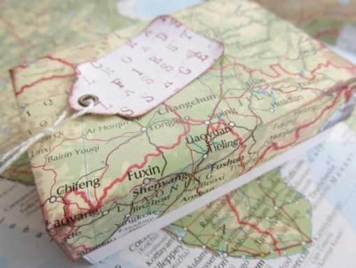 Map Gift Wrapping Paper