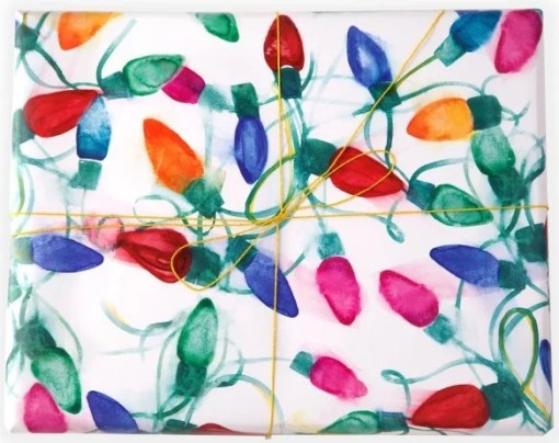 Christmas Lights Gift Wrapping Paper