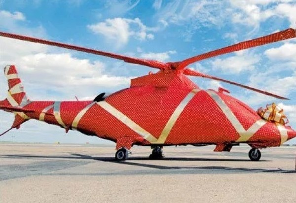 Gift Wrapped Helicopter