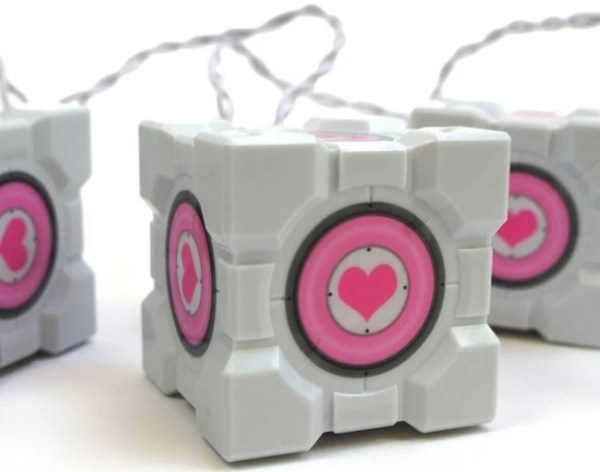 Portal 2: Companion Cube Christmas String Lights