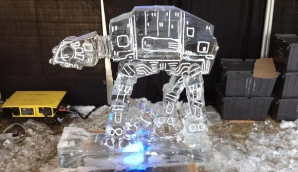 AT-AT Inspired Ice Sculpture