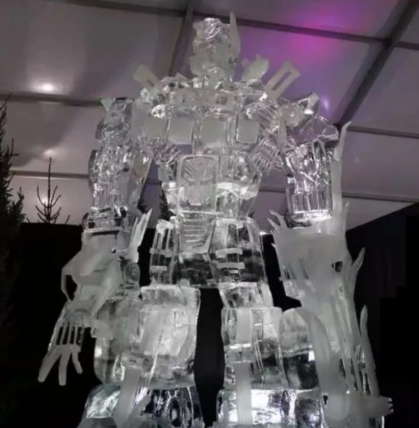 Optimus Prime Inspired Ice Sculpture