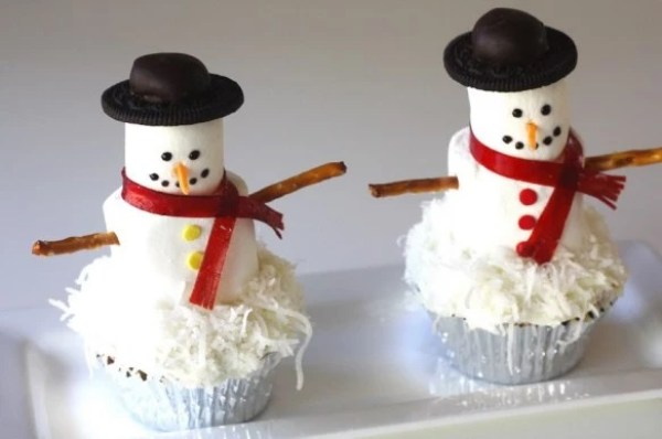 Snowman Inspired Cupcakes