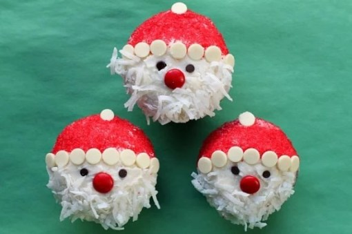 Santa Inspired Cupcakes