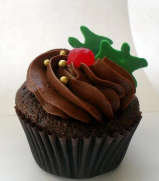 Holly Inspired Cupcakes
