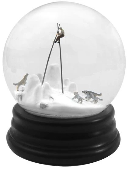 Walter Martin and Paloma Muñoz Scary Snow Globe