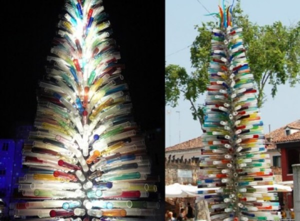 Murano Masters Christmas Tree Made From Glass Pipes