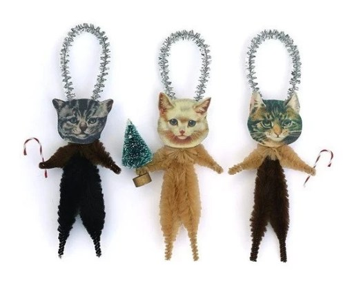 Cat Inspired Christmas Tree Baubles
