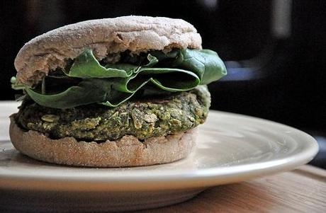 Black Bean-Spinach Burgers