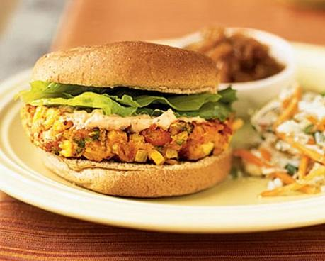 Southwest Pinto Bean Burgers with Chipotle Mayonnaise