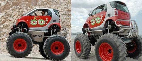 Smart Car Inspired Monster Trucks