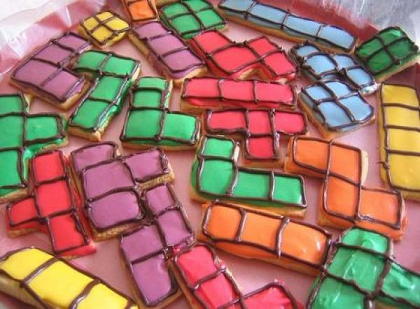 Tetris Themed Cookie Cutters