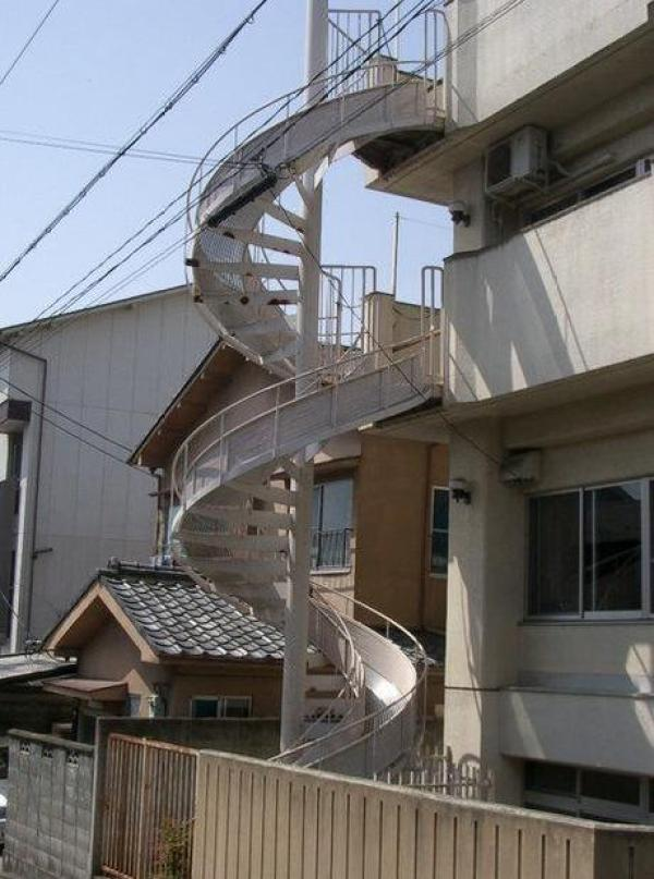 Spiral Fire Escape Chute: Fixed