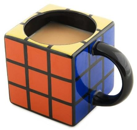 Rubik's Cube Inspired Mug