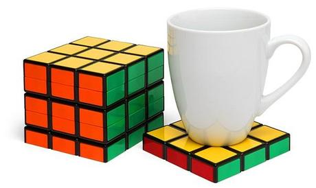 Rubik's Cube Inspired Drink Coasters