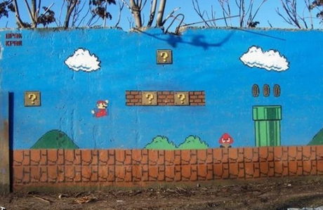 Super Mario Inspired Street Art