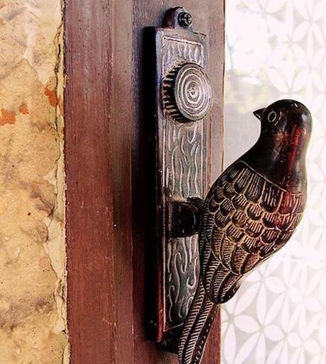 Bird inspired door knocker