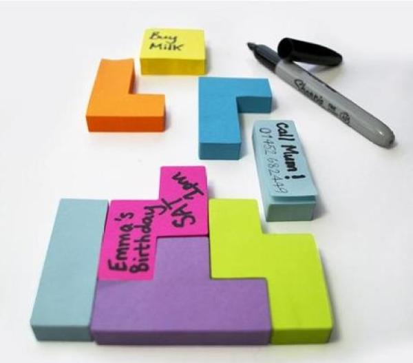 Tetris Inspired Post-it notes