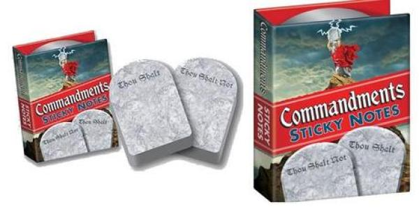 Commandments Inspired Post-it notes