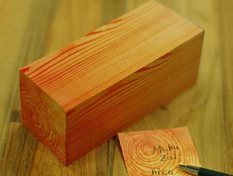 Wood Block Inspired Post-it notes