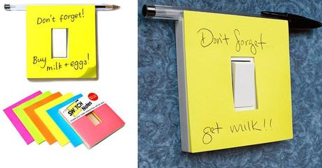 Light Switch Post-it notes