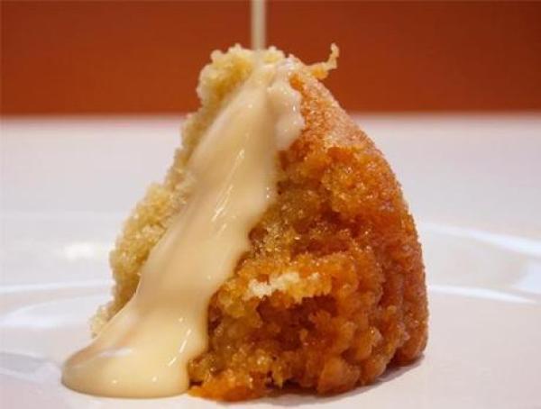 Steamed syrup sponge pudding