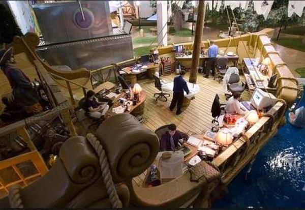Pirate Ship Themed Office in Inventionland