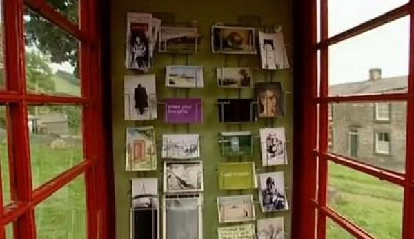 Red Telephone Box / Phone Booth turned into Post Card Shop