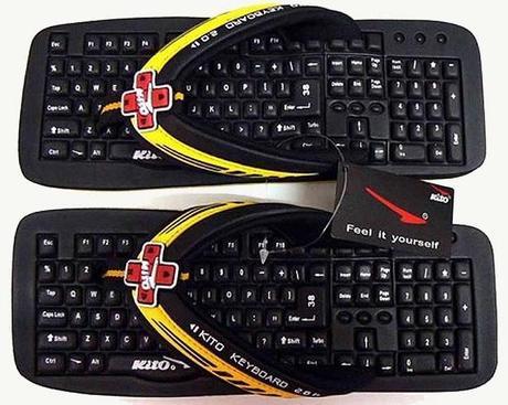 Keyboard Inspired Flip Flops