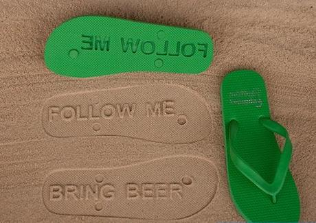 Message Inspired Flip Flops