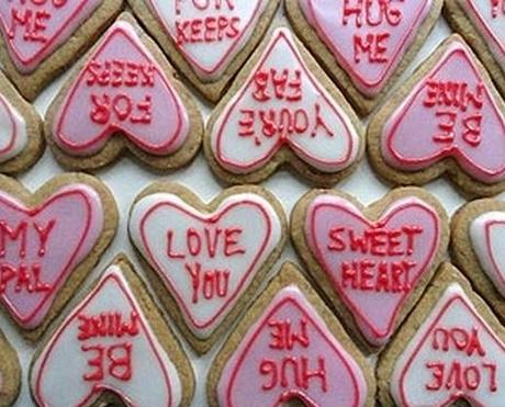 Love Heart Sweets Inspired Cookies