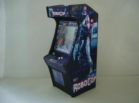 Robocop 1/12th scale miniature arcade cabinet model