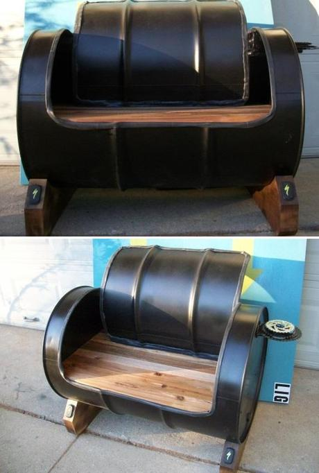 liquid drums turned into chairs