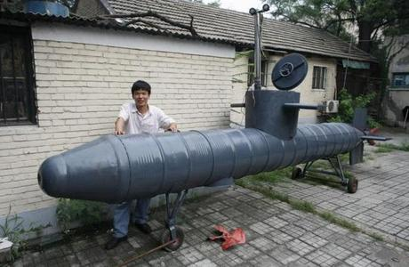 liquid drums turned into a submarine