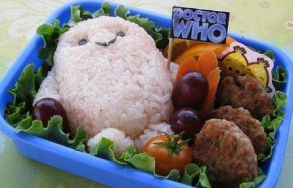 Doctor Who Character inspired foods: Adipose Bento Box