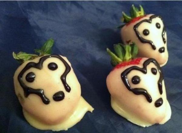 White chocolate strawberry Cybermen