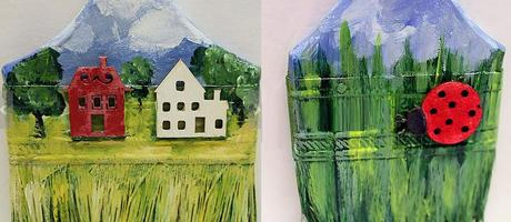Recycled Paint Brushes Turned into paintings