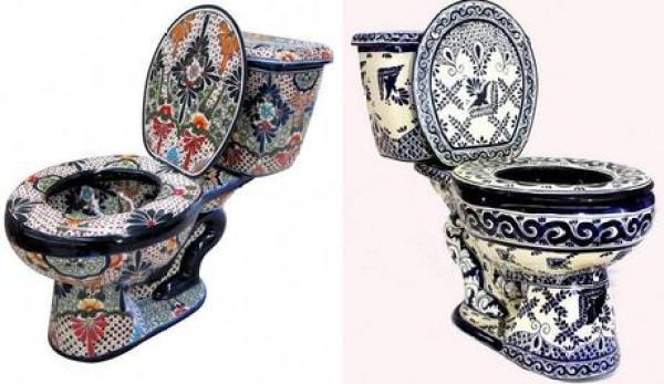 Hand Painted Talavera Toilet