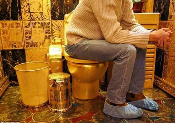 Solid Gold Toilet